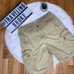 🦅 AE American Eagle Distressed Cargo Shorts